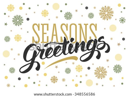 Seasons greetings vintage card winter holidays stock vector seasons greetings vintage card for winter holidays hand lettering calligraphic inscription by brush m4hsunfo