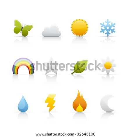 Seasons Icon Set for multiple application in Adobe Illustrator EPS 8. - stock vector