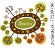 Seasons of the year funny logo - stock vector