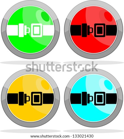 seat belt icon - stock vector