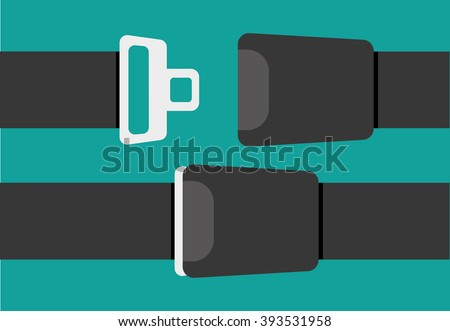 Seat belt sign - stock vector