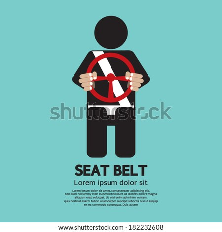 Seat Belt Vector Illustration - stock vector