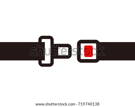 seat belts flat icon, simple vector illustration