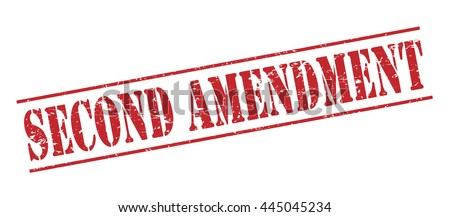second amendment vector stamp on white background - stock vector