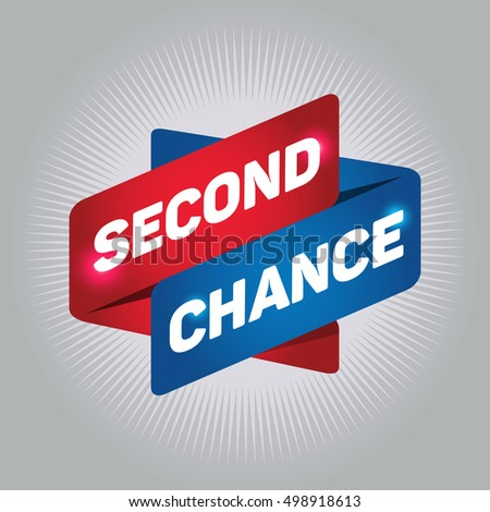 SECOND CHANCE arrow tag sign.