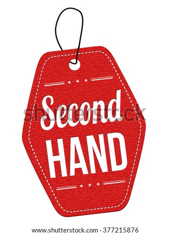 Second hand red leather label price stock vector 377215876 for Second hand schlafsofa