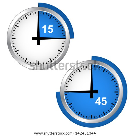 Seconds timer in EPS format. Download vector icons. - stock vector