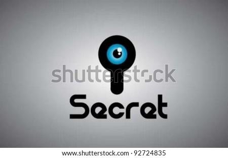 Secret - stock vector