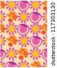 secret garden wallpaper series (summer love) - stock vector