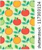 secret garden wallpaper series (sweet nature) - stock vector