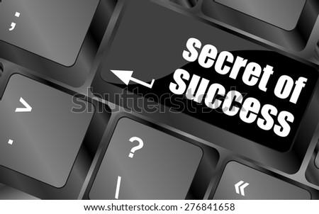 secret of success button on computer keyboard key vector - stock vector
