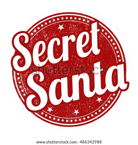 Secret Santa grunge rubber stamp on white background, vector illustration
