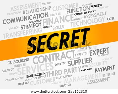 Secret word cloud, business concept - stock vector