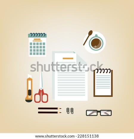 Secretary Desk - stock vector