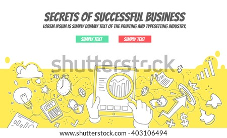 Secrets of Successful Business - Doodle Concept - stock vector
