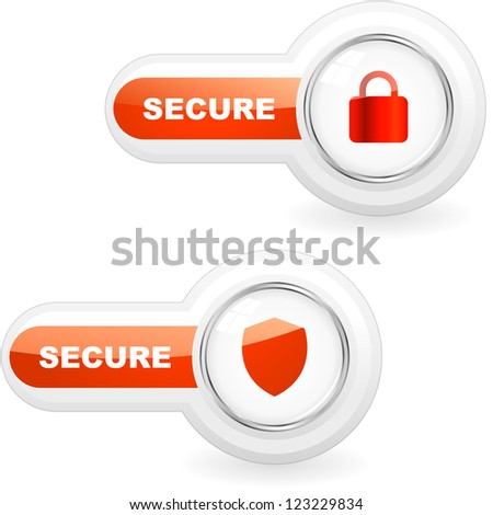 SECURE icon for web. - stock vector