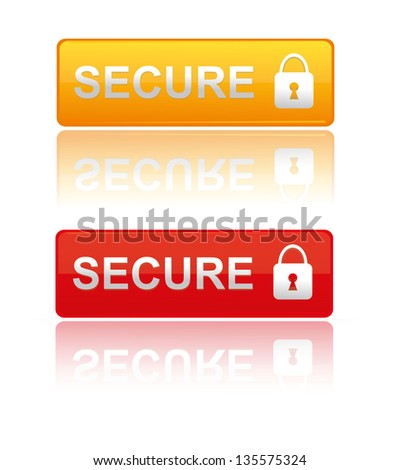 Secure padlock icon,Vector illustration