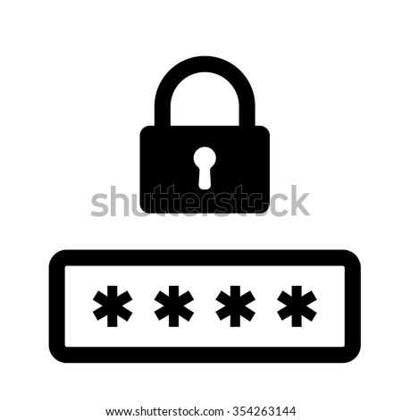 Secure password vector icon for web and mobile - stock vector
