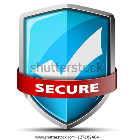 Secure shield - stock vector