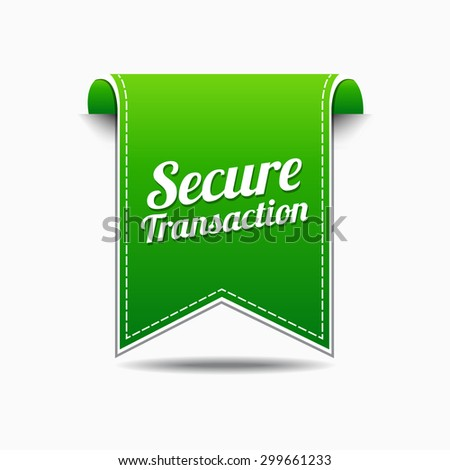 Secure Transaction Green Vector Icon Design