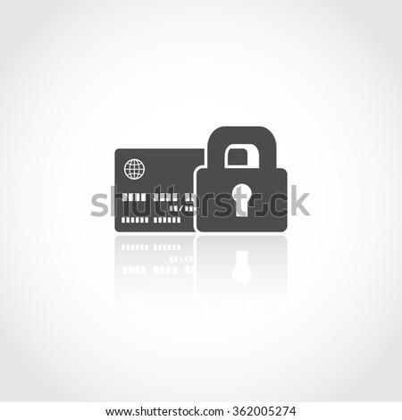 Secure transactions web icon. Financial money concept - stock vector