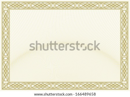 secured document background (guilloche style background, diploma or certificate design) - stock vector