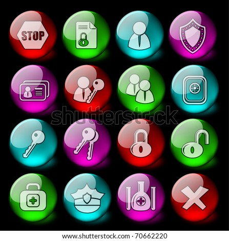 Security and antivirus vector icons - EPS10 - stock vector