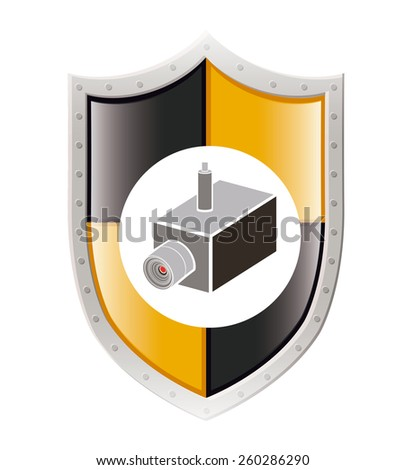 Security and Insurance design, vector illustration