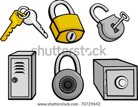 security and safety illustrations set