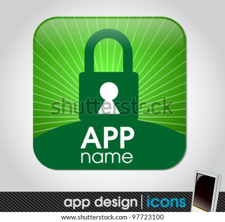 security app for mobile devices - stock vector