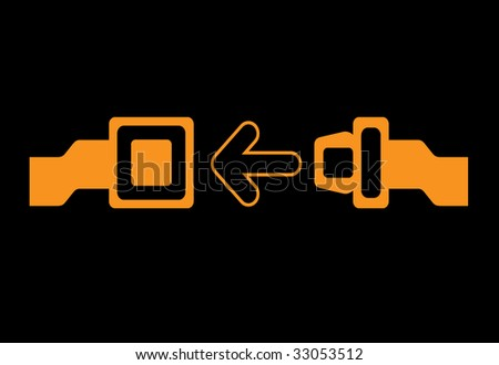 security belt illustration - stock vector