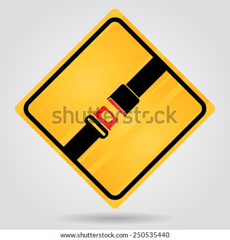 security belt, seat belt  sign - stock vector