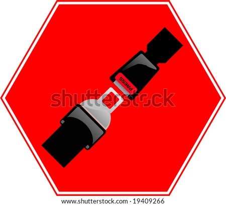 Security Belt signal - stock vector