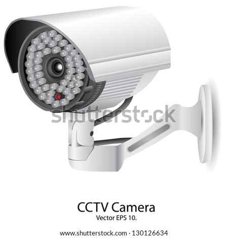 Security Camera CCTV Vector Illustration, EPS 10. - stock vector