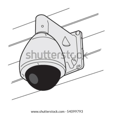 security camera dome 2 - stock vector