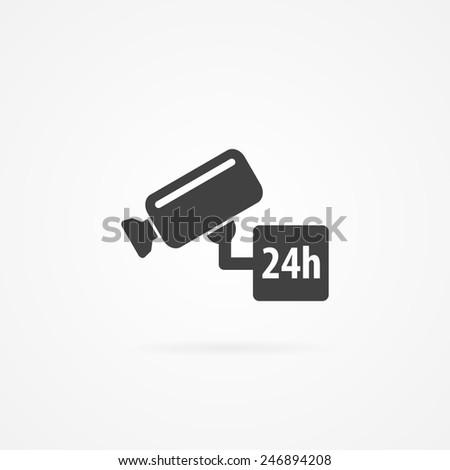 Security camera icon. - stock vector