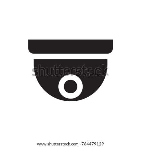 Security Camera Icon Illustration Isolated Vector Stock Vector
