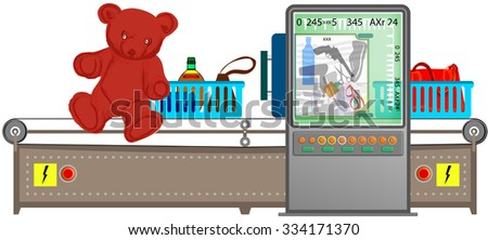 Security checkpoint - stock vector