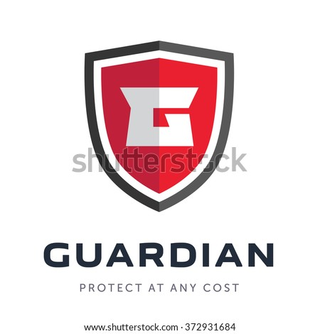 Security company logo ready to use. Abstract symbol of securit. Shield logo. Shield icon. - stock vector