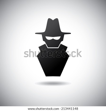 security design over gray  background vector illustration - stock vector