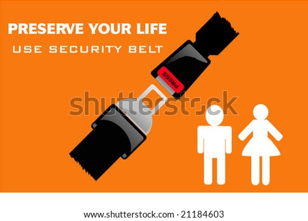 security drive illustration - stock vector