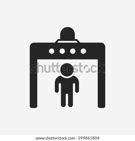 Security Gate Icon Stock Vector