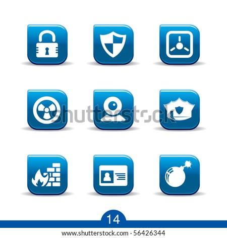 security icons no.14..smooth series - stock vector