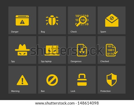Security icons. Vector illustration. - stock vector