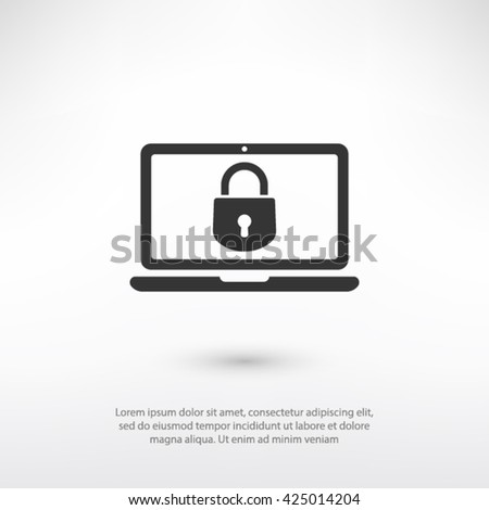 security laptop, protection icon. One of set web icons - stock vector