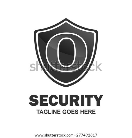 Security Letter o logo shield design - various geometric shapes - secure visual identity - Security Logo template Monogram design elements Business sign identity vector illustration
