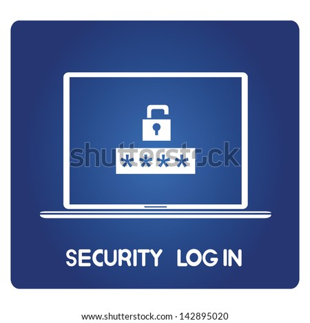 security log in - stock vector
