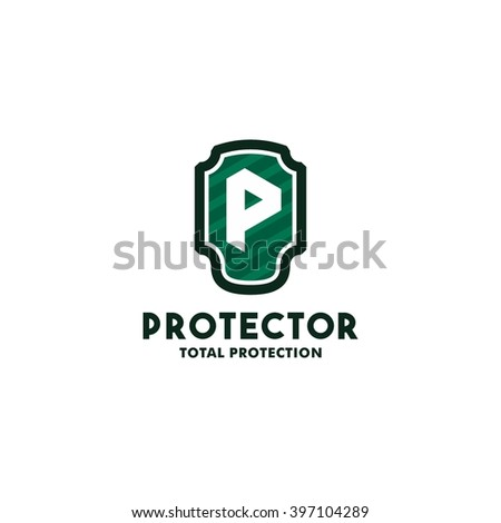 Security Logo Symbol Design Template P Stock Vector 2018 397104289