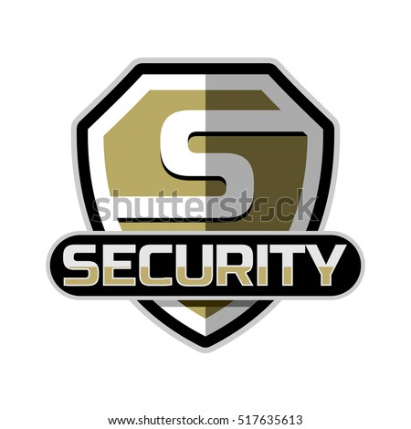 security logo badge vector template stock vector 517635613 rh shutterstock com security logon banner security logo maker
