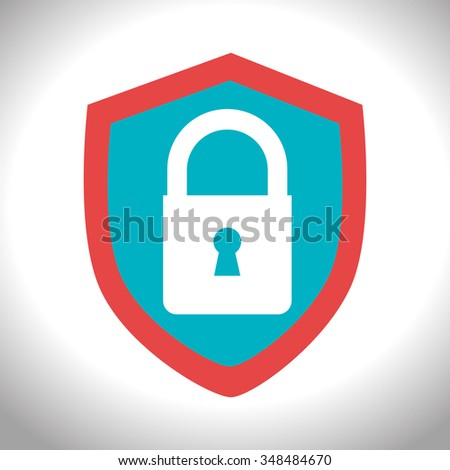 Security padlock graphic design, vector illustration eps10